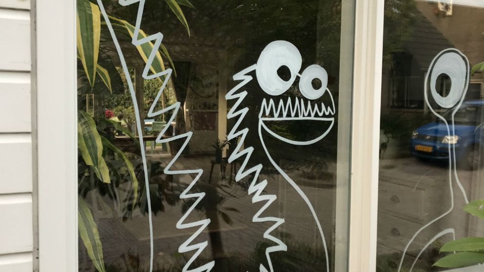 Halloween raam – Halloween crea hop