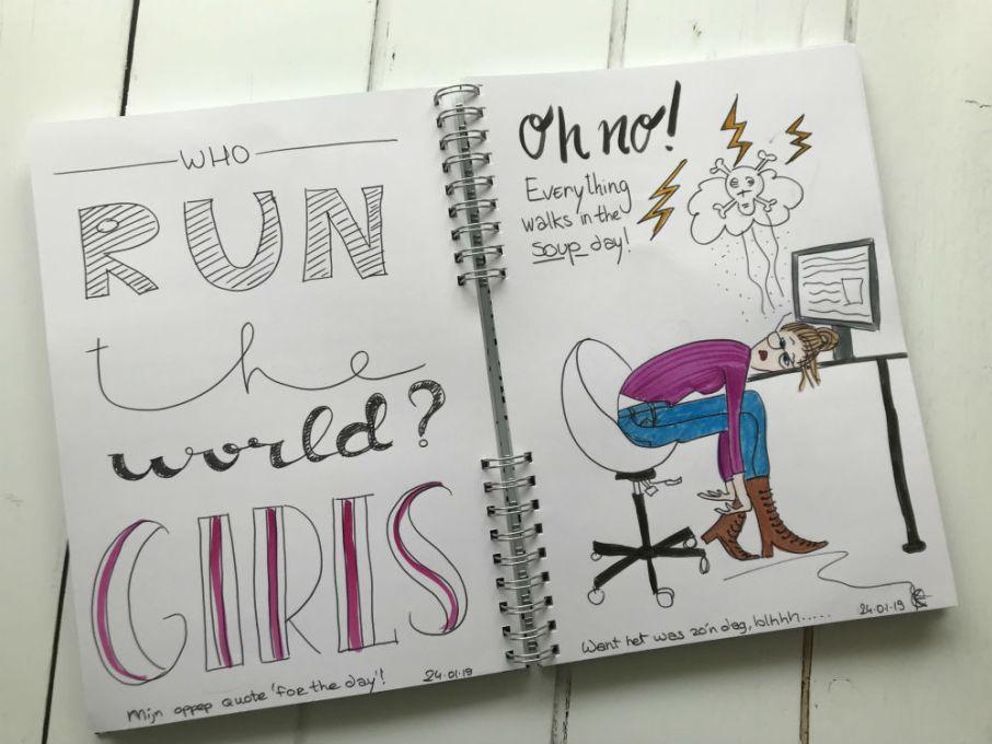 Illustratie dagboek