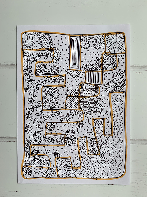 Tekening met patronen
