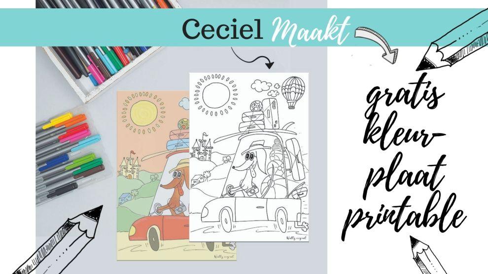 Wally zomer kleurplaat – gratis printen