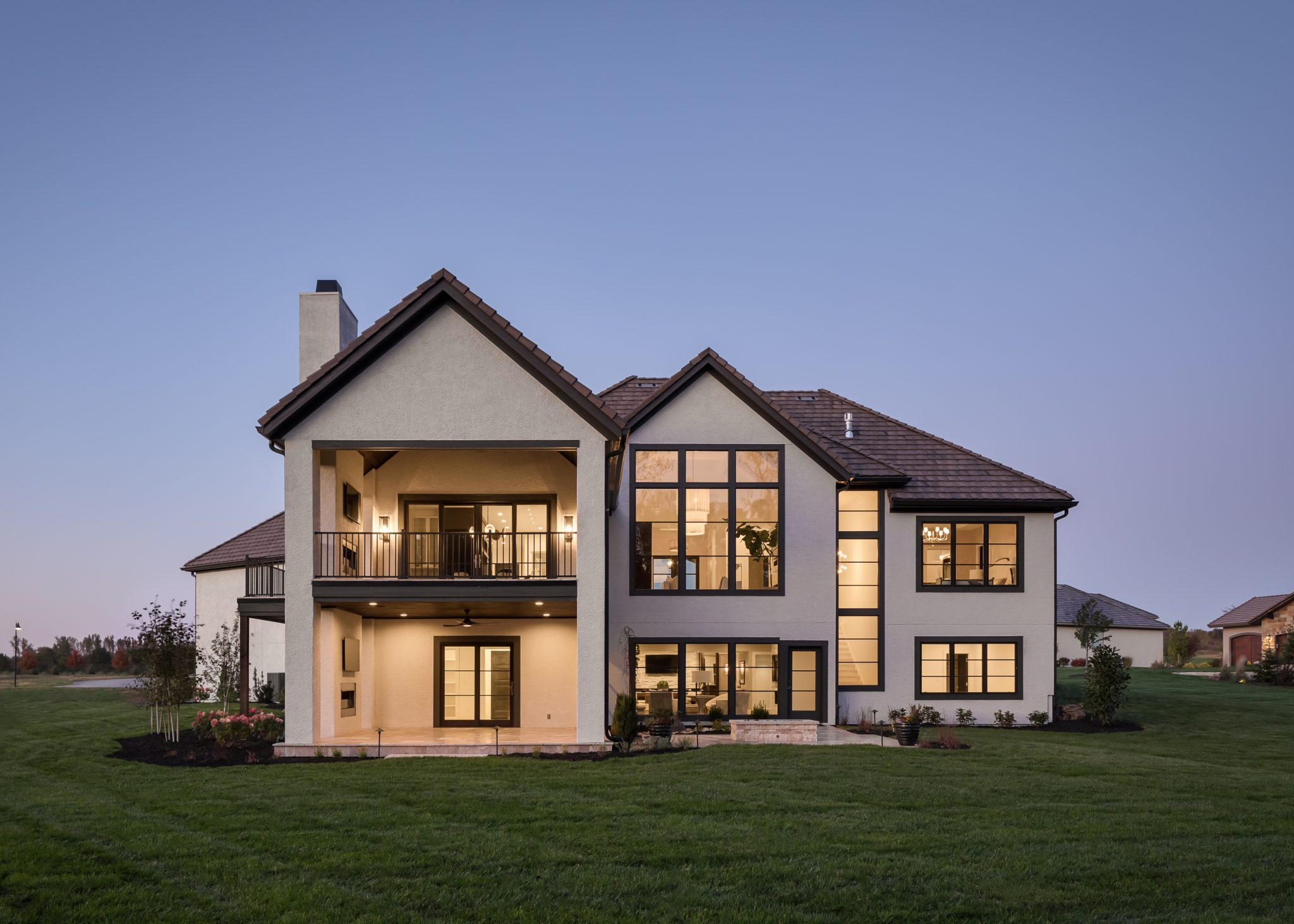 Custom built home exterior outside view