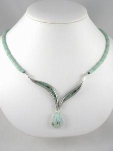 collier amazonite opale émaux