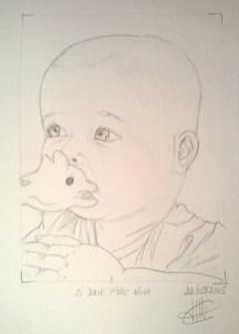 dessin representant bebe nina réalisé par cecile jonquiere - cecile jonquieres