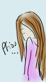 dessin d une jeune femme qui soupire réalisé par cecile jonquiere - cecile jonquieres