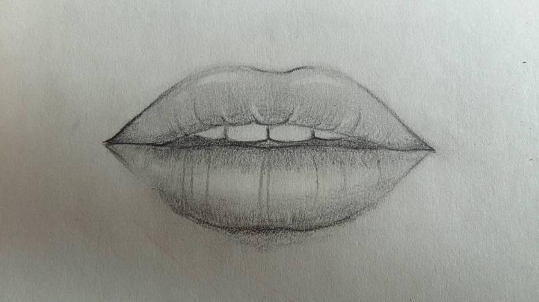 dessin d une bouche réalisé par cecile jonquiere - cecile jonquieres