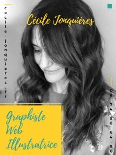 Visuel type flyer de Cécile Jonquières Graphiste Web Illustratrice