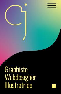 Carte de visite (recto) de Cécile Jonquières Graphiste Webdesigner Illustratrice en région Toulousaine