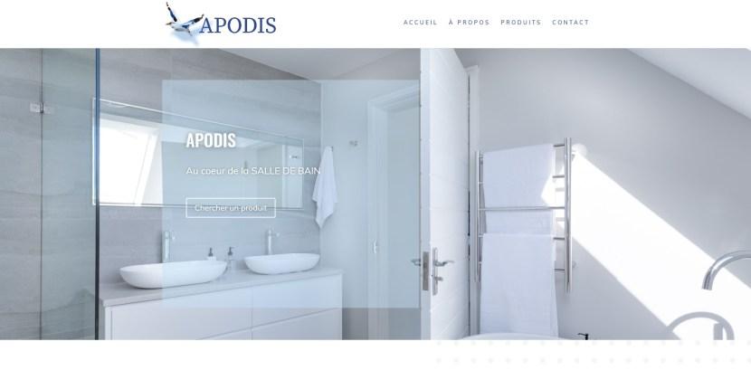 page accueil du site apodis.pro