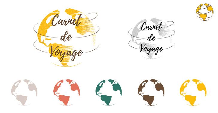 Ensemble des logos, favicon, déclinaisons de l'agence Carnet de Voyage