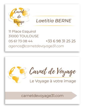 carte de visite de Carnet de Voyage - Agence de Voyage 31