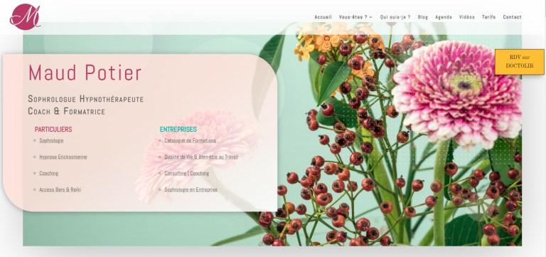Aperçu de la Page Accueil du site web de Maud Potier