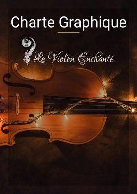 couverture d une charte graphique phtotographie d un violon