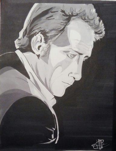 dessin representant Vincent Lindon réalisé par cecile jonquiere - cecile jonquieres