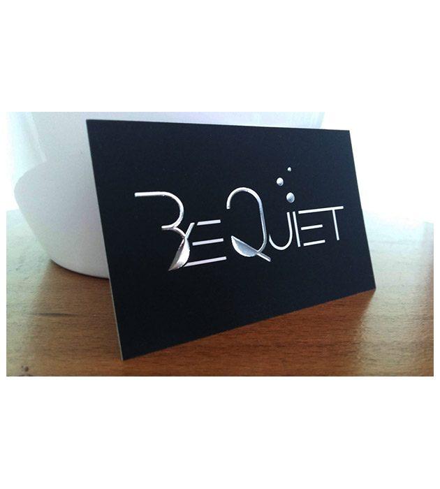 Carte de visite recto de Be Quiet créée par Cécile Jonquières Graphiste webdesigner illustratrice 31