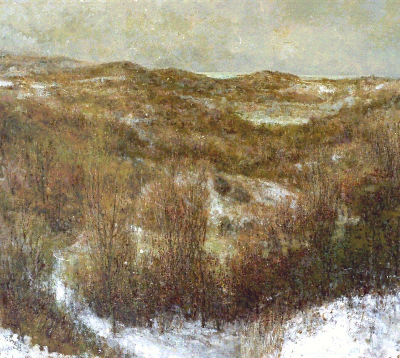 landschap, olie op doek 100x110cm