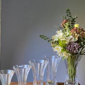 florero cristal / 5 tamaños