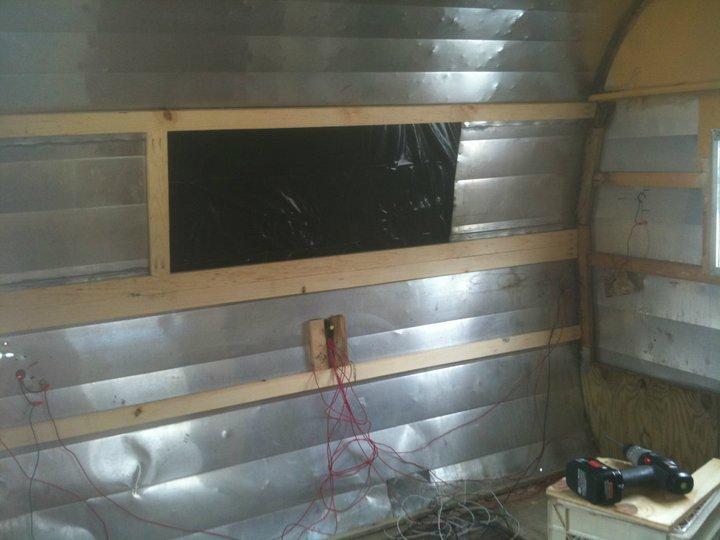 reframing vintage camper walls