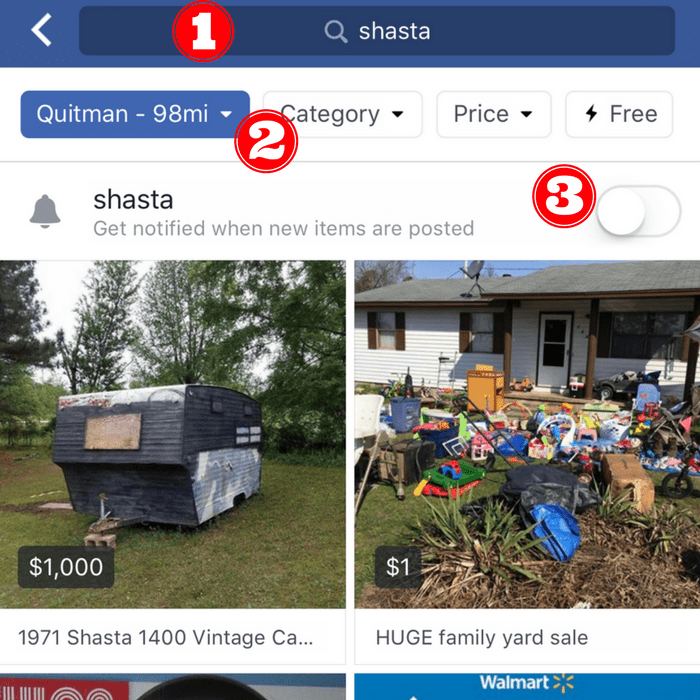 Facebook Marketplace Notifications