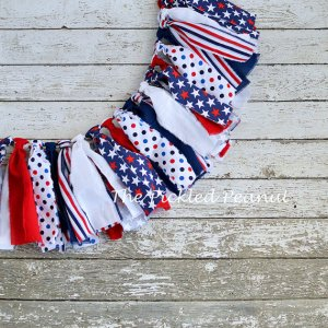 USA flag garland