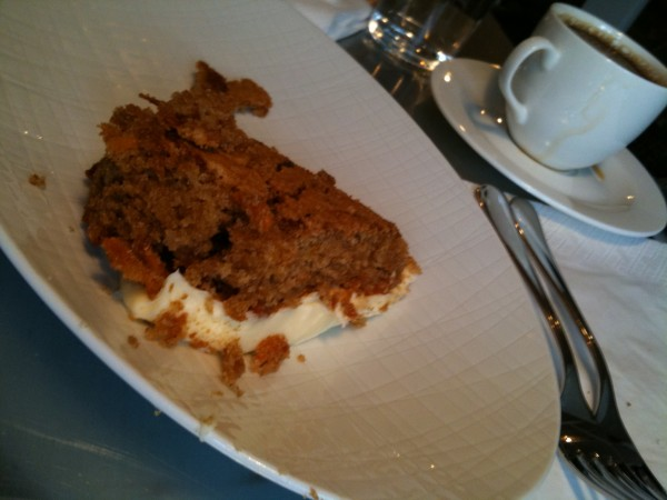 Ooops! The carrot cake ended upside down!
