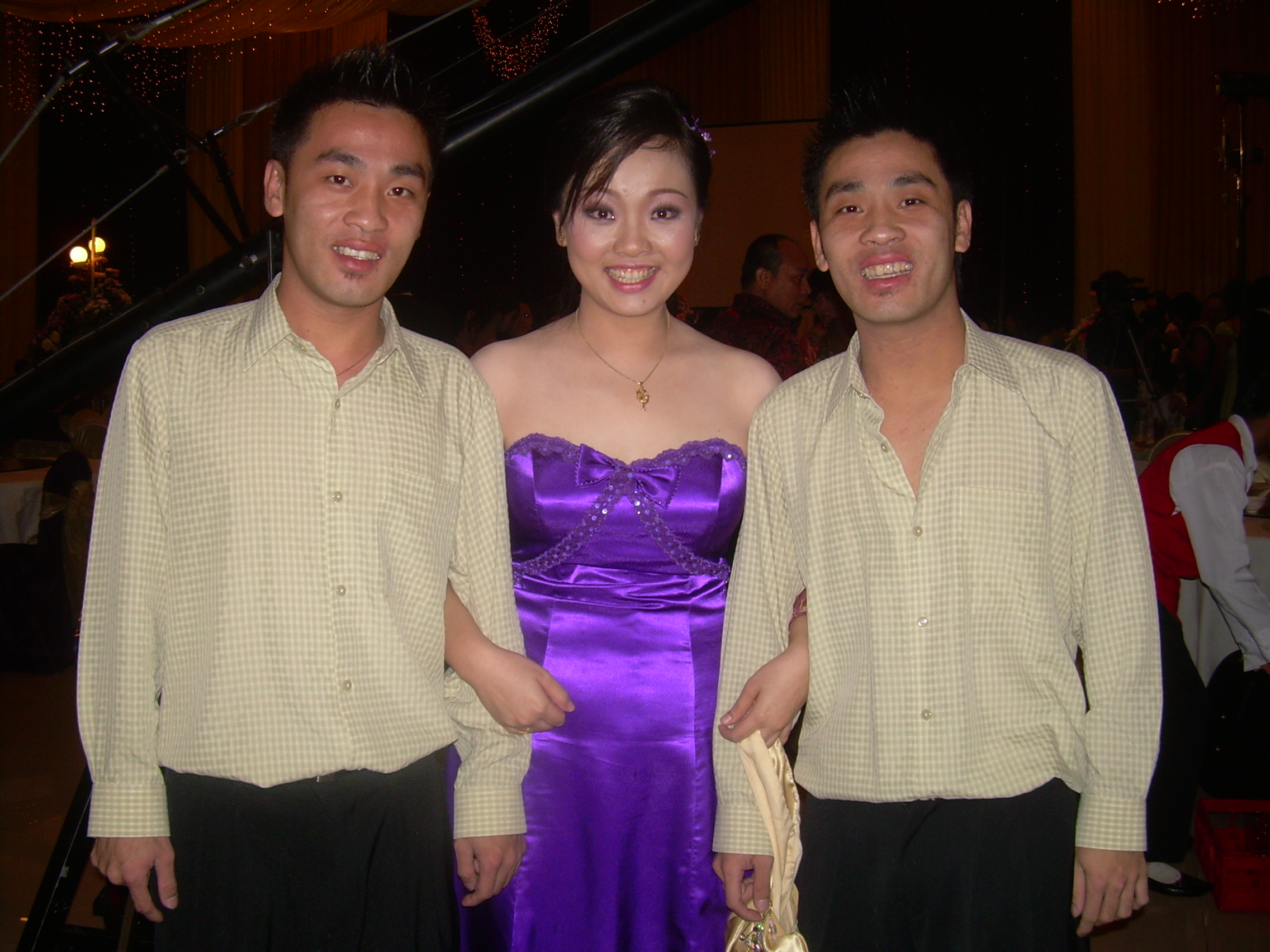 My twin brothers and me