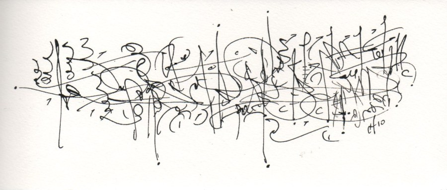 Asemic Notebook Drawing #17