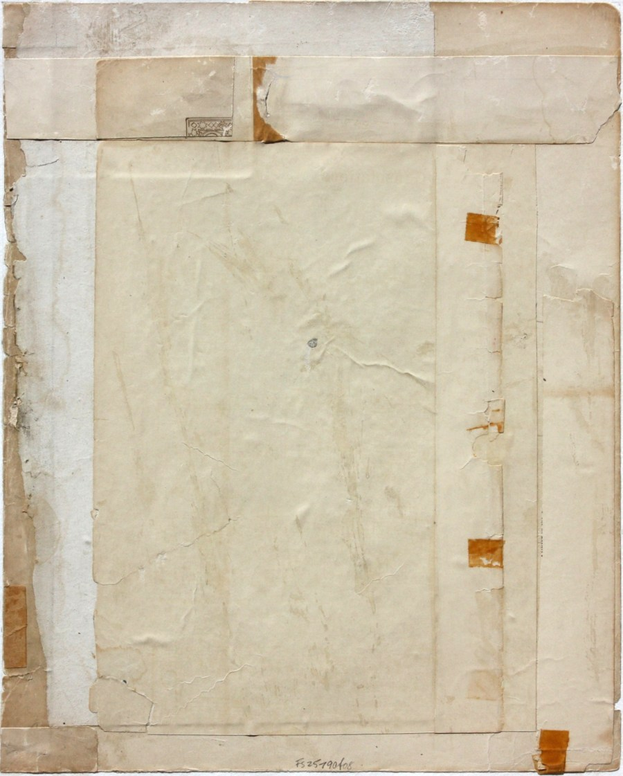 Fusion Series #2579 - 2008 - collage with found paper - 11x9 inches mounted on watercolor paper