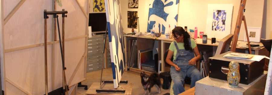 Rosalia Touchon in the Painting Studio