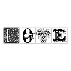 stickers 15/15 carrelage love Boubouki