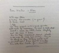 Cuaderno de recetas de Marguerite Yourcenar, p. 102