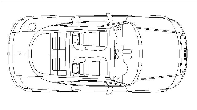 Autocad drawing Audi TT Roadste Convertible dwg