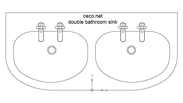 autocad drawing bathroom sink 1 double dwg