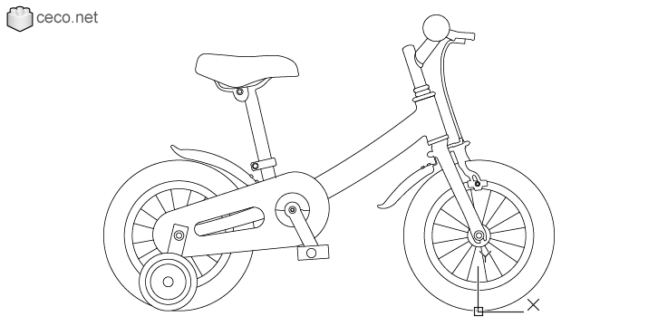 Bicycle For Kids Drawing