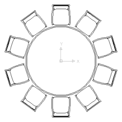 Banquet Table Set Up Diagram My Sentence Online Autocad Drawing Large Round With Chairs For Celebrations Weddings In Furniture