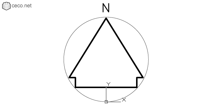Autocad drawing North arrow 21 simple modern north point