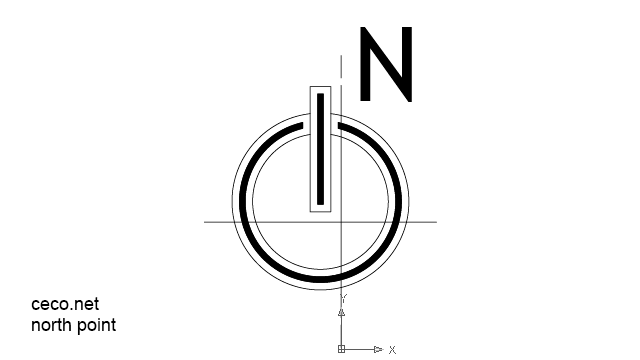 Autocad drawing north point 2 modern dwg dxf