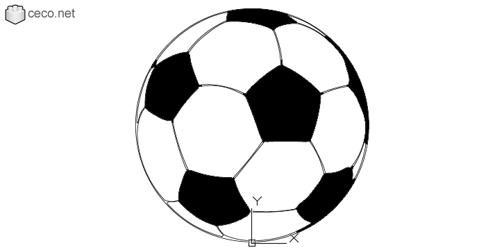 New Autocad drawing soccer ball adidas FIFA World Cup