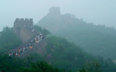 Tourists on the Great Wall - Badaling