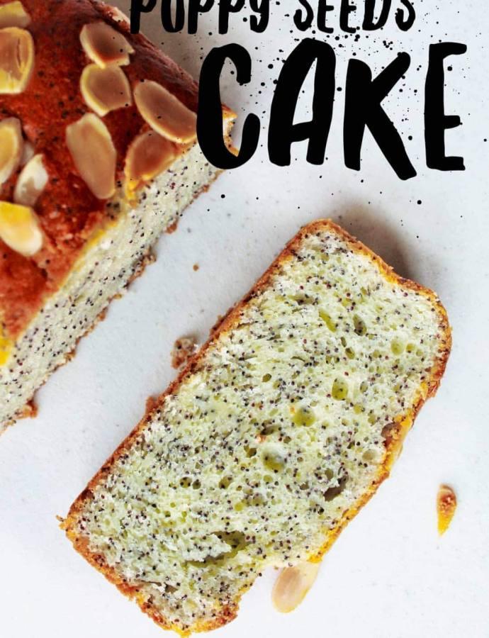 Plum cake allo yogurt, limone e semi di papavero