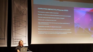 ECC Forum Kaunas 2022, 18. maj 2018: Virginija Vitkiene predstavlja Kaunas EPK 2022.