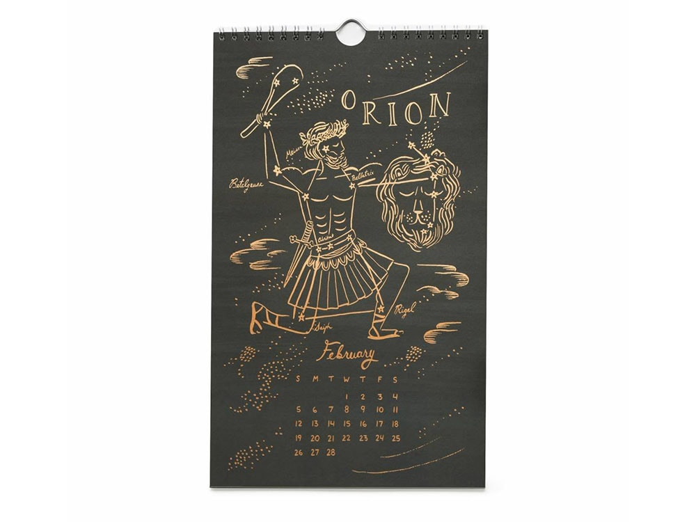 Constellations Wall Calendar
