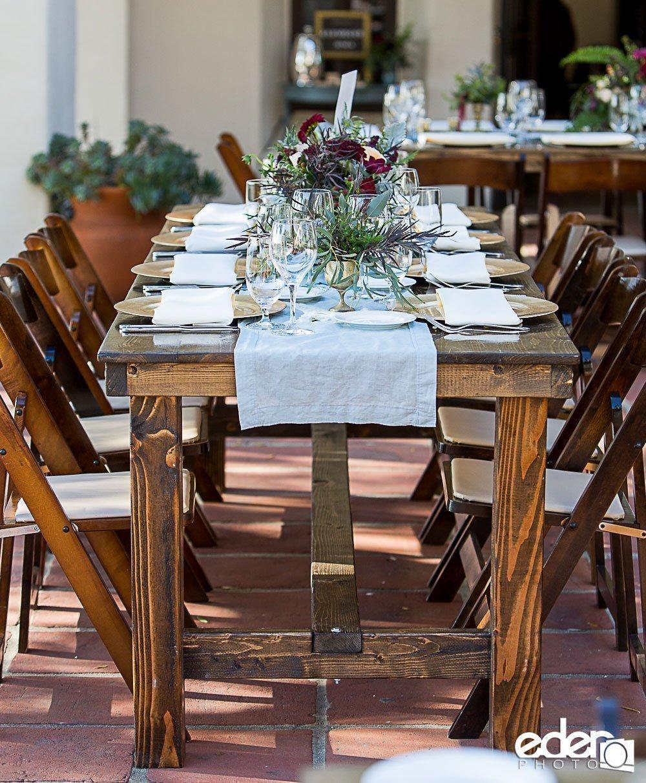 San Diego Farm Table Rentals  Hairpin Farm Table Rentals
