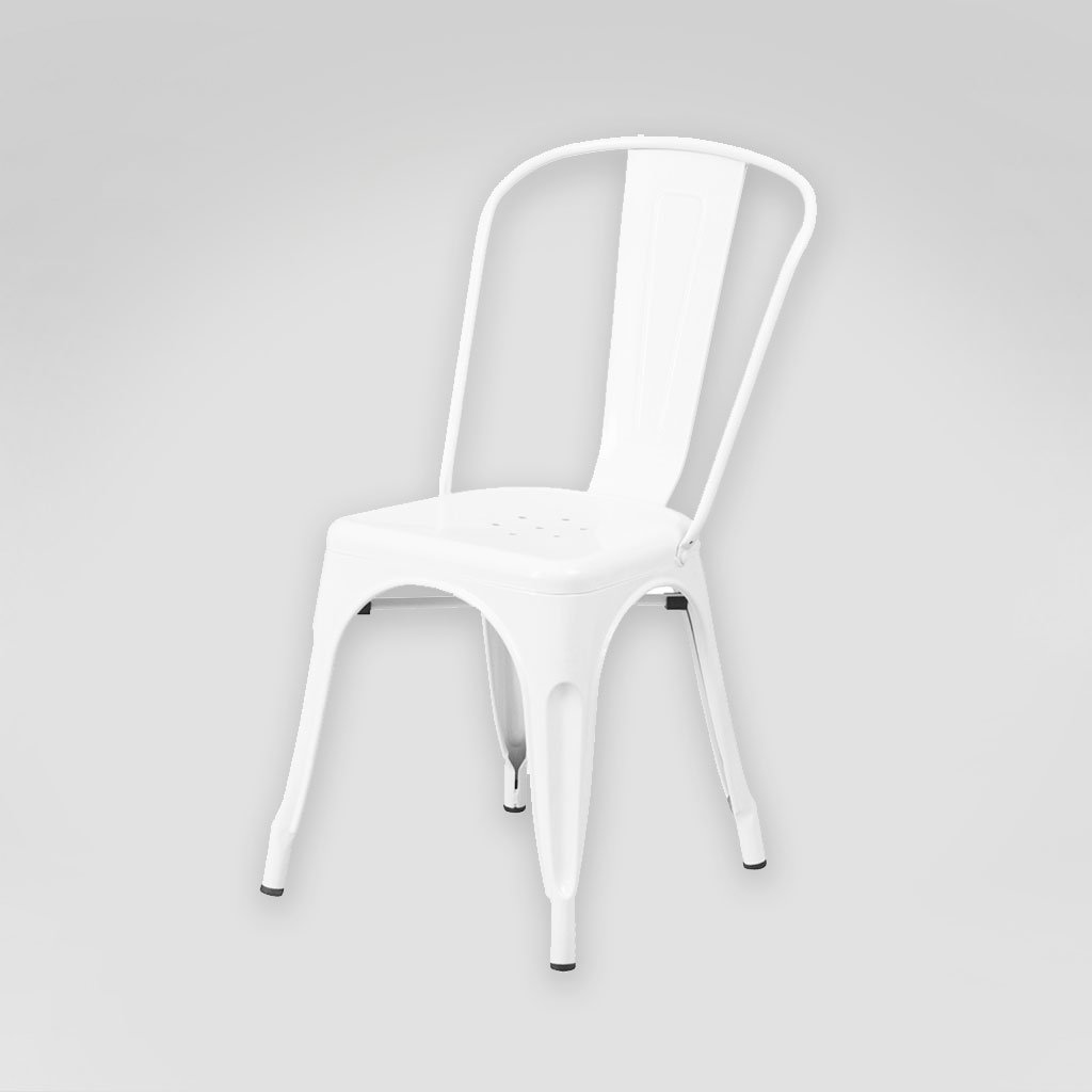 White Metal Chair White Bistro Tolix Chair Rental San Diego