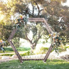Circular Lounge Chair Outdoor Lift Wood Geometric Ceremony Arch Rental | Circle San Diego