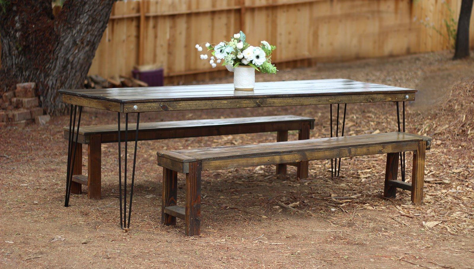 tables chairs rental 2 office chair z gallerie hairpin leg farm table rentals san diego modern wood