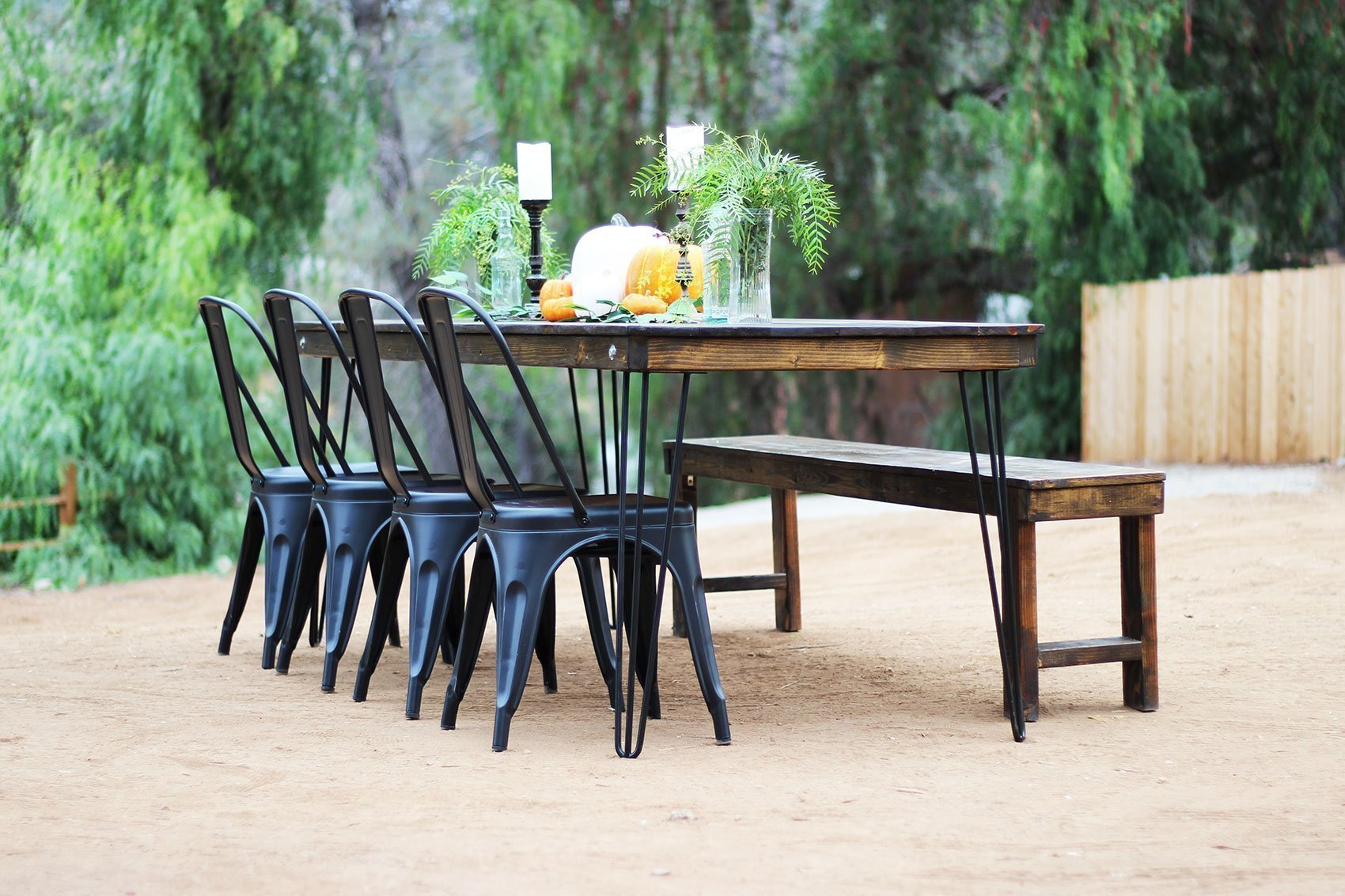 Farm Table  Bench Rentals  San Diego