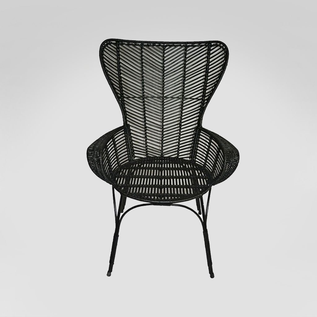 black rattan chair mid century modern chairs for living room rental san diego lounge set rentals