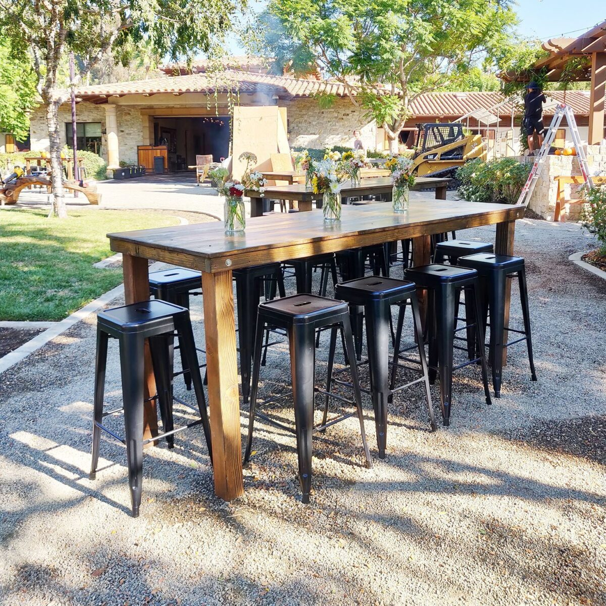 Bar Cocktail Height Farm Table Rentals San Diego Event Rentals San Diego