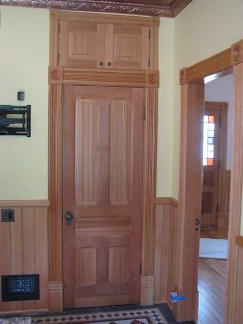 This beautifully crafted door is made from Clear, Vertical Grain Douglas Fir we supplied