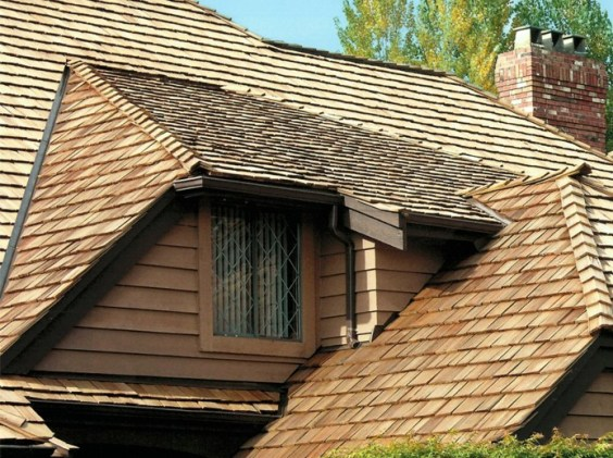 Western Red Cedar Roofing Shakes by Teal Cedar